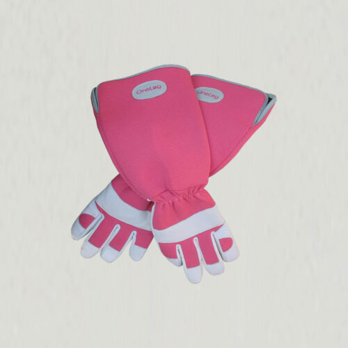 havehandsker med svinelæder i pink