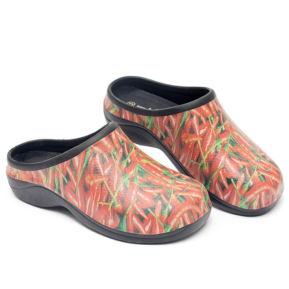 Havesko, Backdoorshoes, med sjovt chili-motiv
