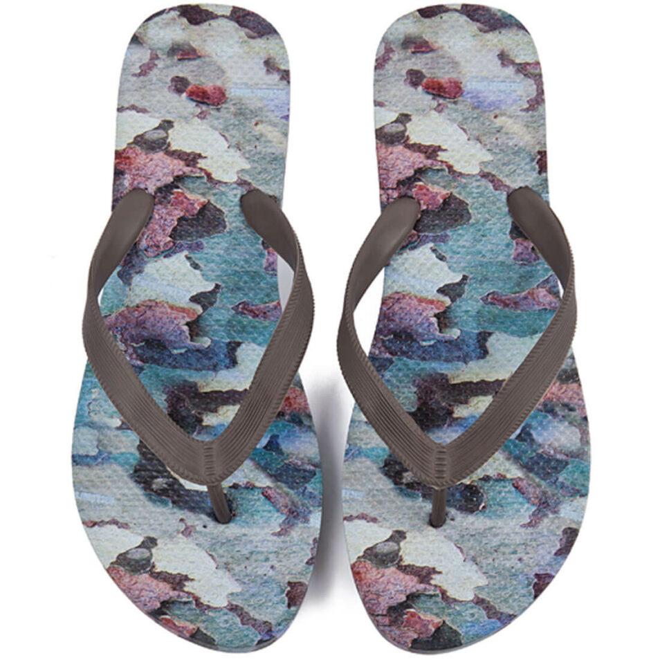 Klipklapper til mænd i flot camouflage-print (Backdoorshoes)