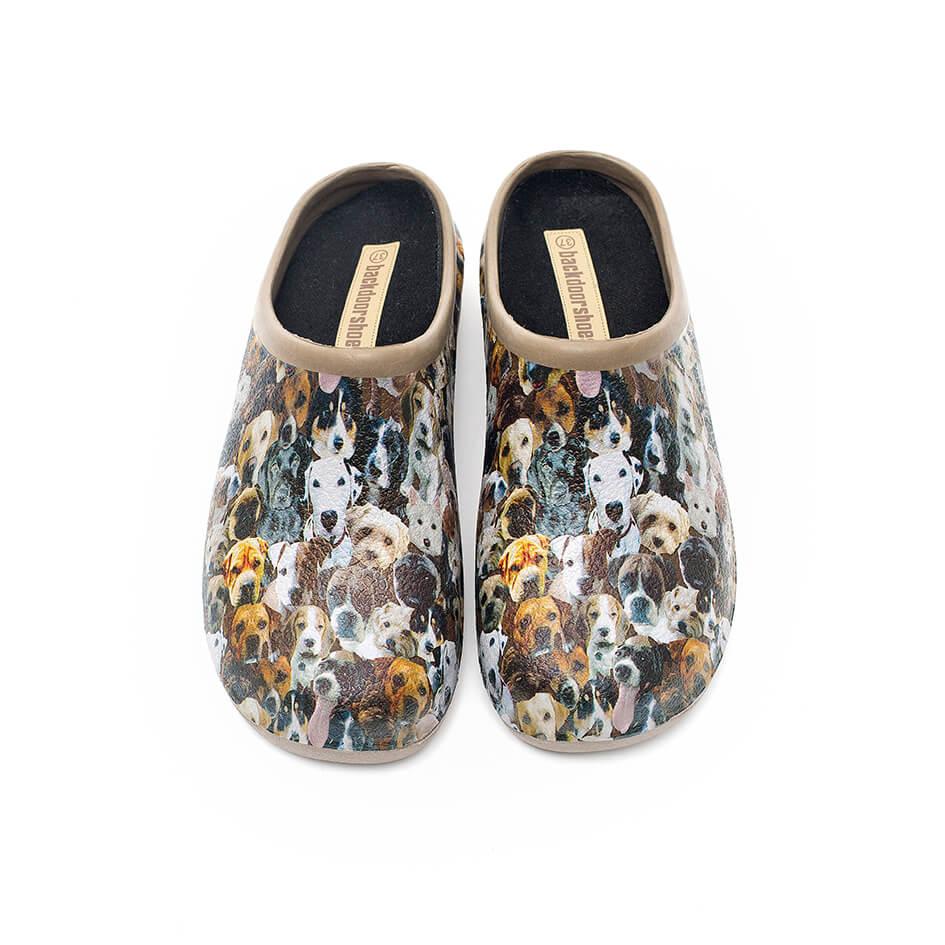 Havesko, Backdoorshoes, med sødt hunde-motiv