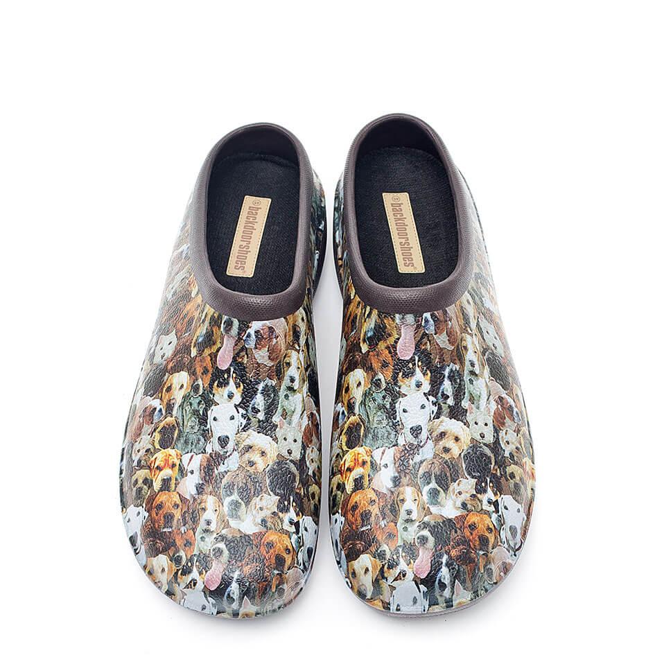 Backdoorshoes med hundemotiv