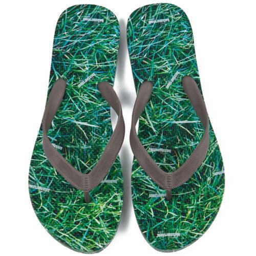 Klipklapper til mænd, Backdoorshoes, med fint græs-motiv