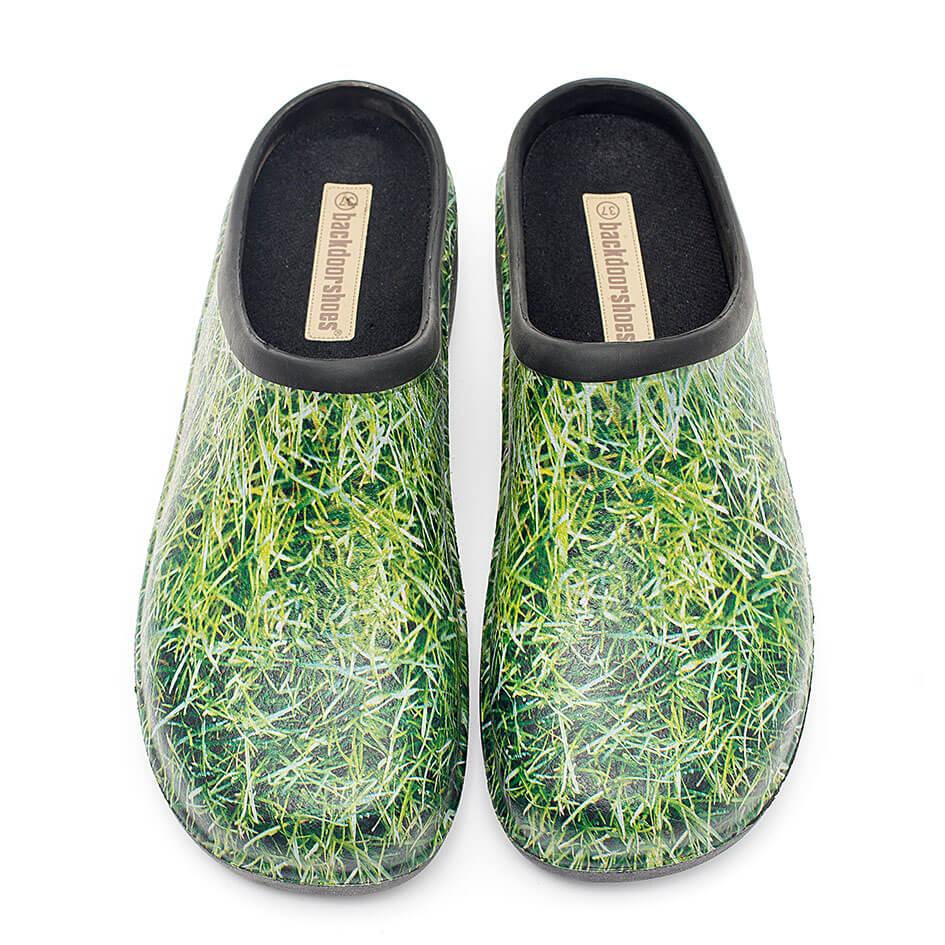 Havesko, Backdoorshoes, med friskt græsmotiv