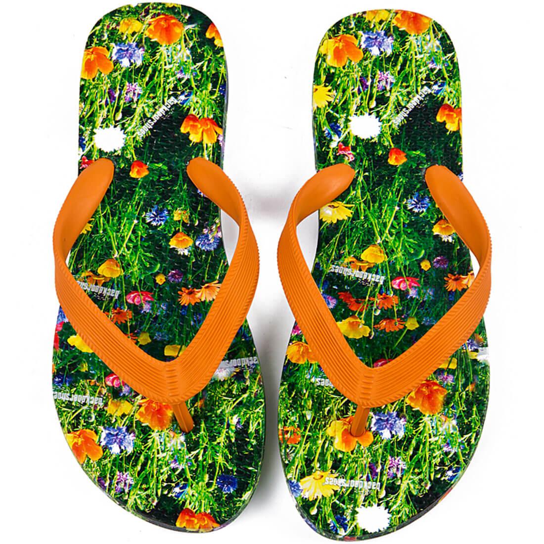 Klipklapper til damer, med smukt blomstereng-motiv (Backdoorshoes)