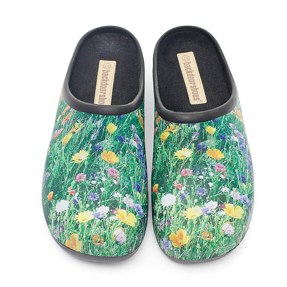 Havesko, Backdoorshoes, med flot eng-motiv