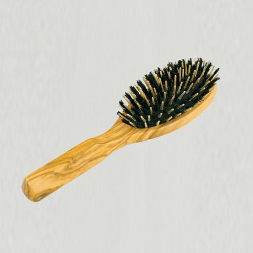 Hårbørste med vildsvinehår 21,5 cm.