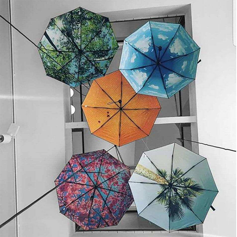 Paraply med motiver