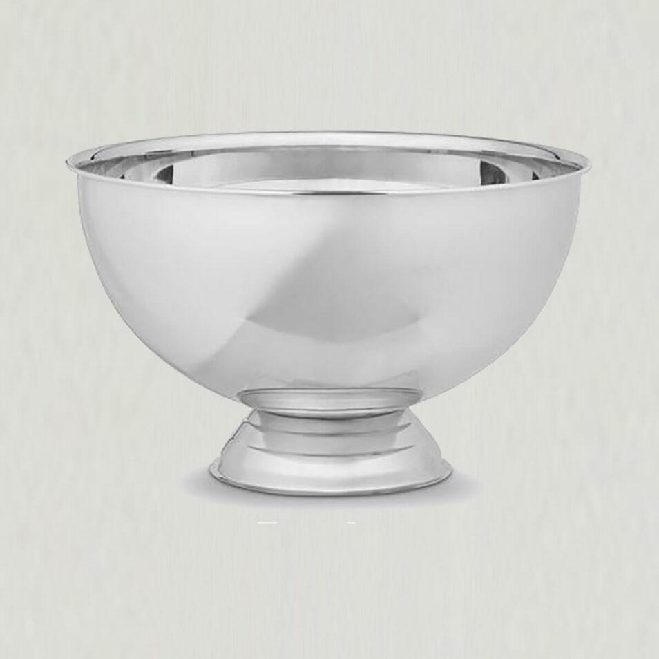 Champagnebowle i blank stål, 38 cm, Bastian