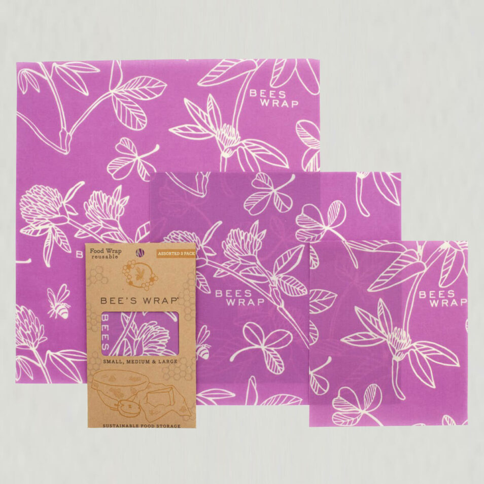Bee's Wrap - 3 pak, assorteret, Purple Clover