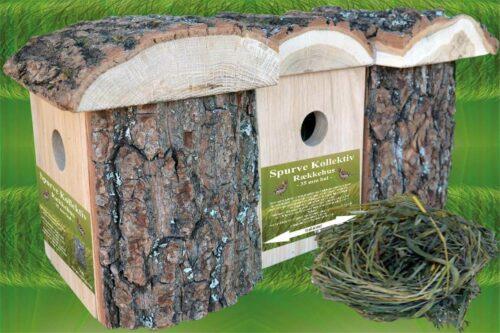 Spurvekasser med naturtag - Rækkehus