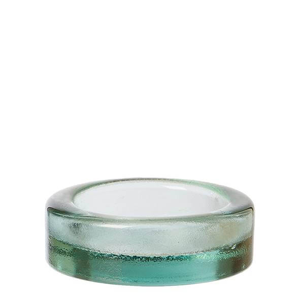 Barcelona glasskål - bordskåner til flaske D12 x H4,5 cm, klar - OOHHx