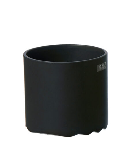 Wave cylinder krukke D12 x H11 cm, Mat Sort - OOHHx