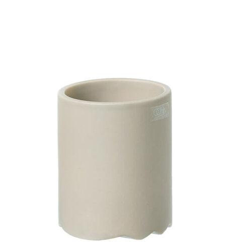 Wave cylinder krukke D8 x H10 cm, Mat Lys Brun - OOHHx
