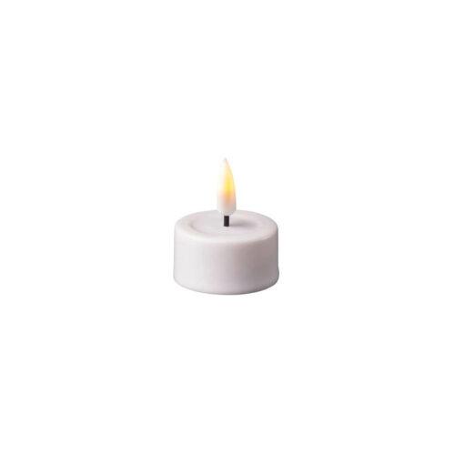 Hvide LED Fyrfadslys 2 stk. - Deluxe Homeart