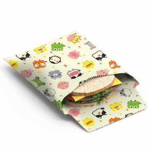 Beeswax Snack & Sandwich bags, kids - Nuts.