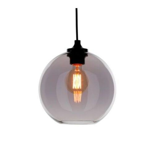 Loftlampe i glas Ball shape, grå Ø24 - By Eve