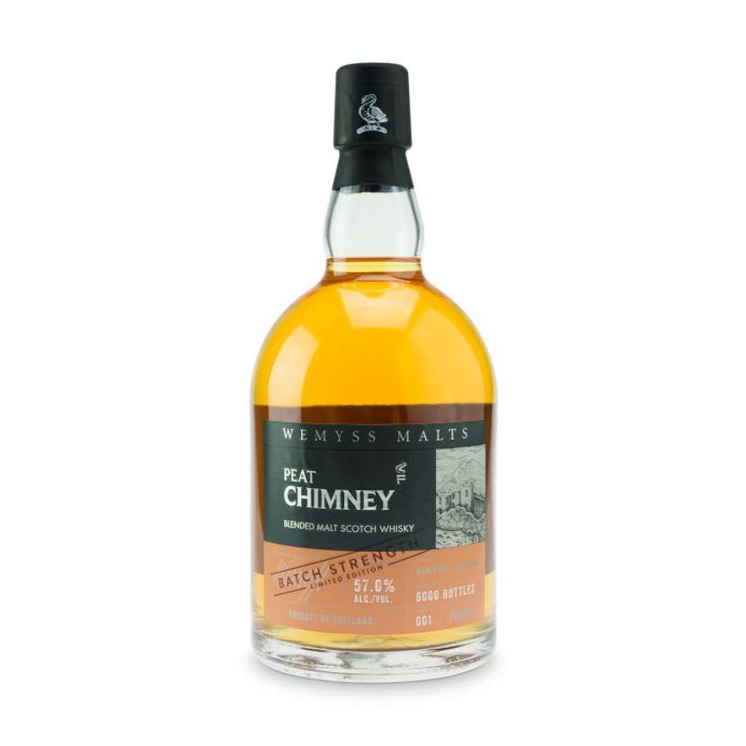 Wemyss Malts Peat Chimney, Skotsk Whisky, Batch Strength 70 cl.