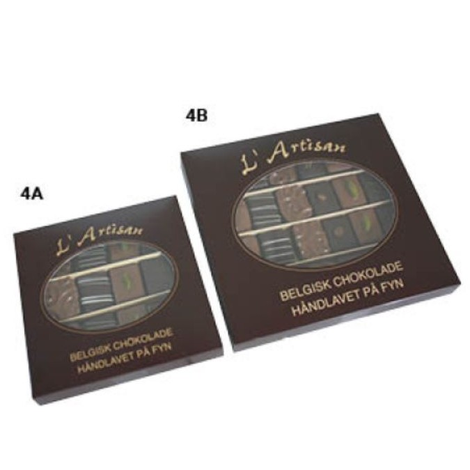 L'Artisan fyldt chokolade 125-250g.