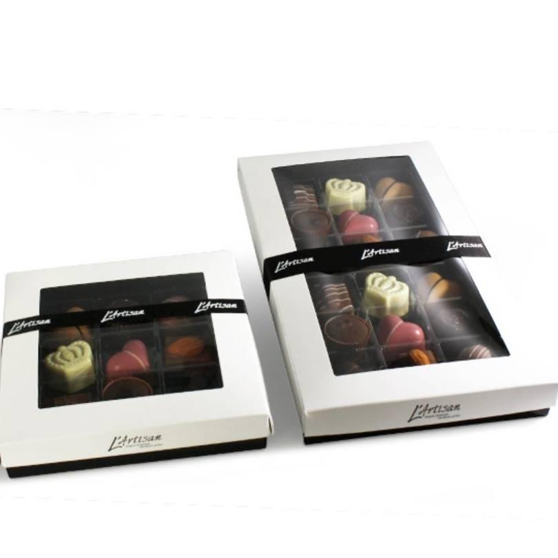 L'Artisan fyldt chokolade 75-115-230g.