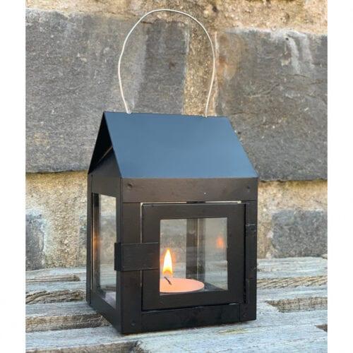 Lanterne til fyrfadslys, Sort - A2 Living.