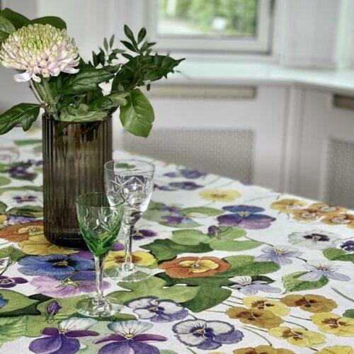 Tessitura hørdug stedmoder-blomster, Mammola