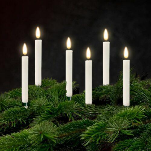 Hvide LED Juletræslys 6 stk. - DeluxeHomeart